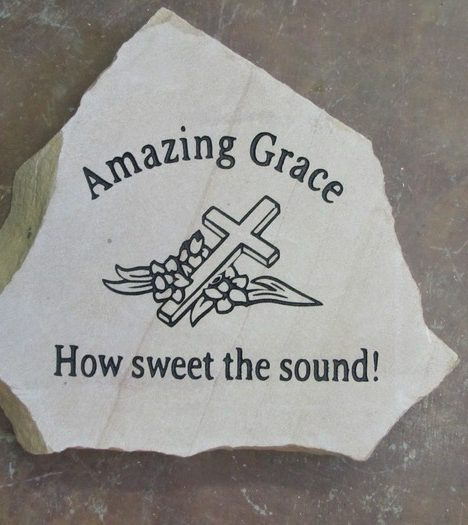 Engraved amazing grace garden stone medium flagstone workwithnaturefo