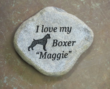 Engraved Personalized Dog Memorial Stone