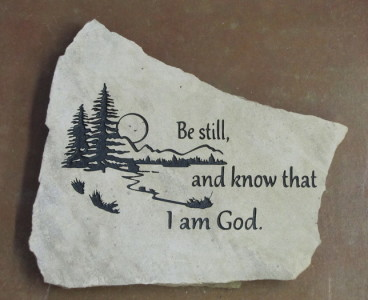 Engraved Scripture Stepping Stone
