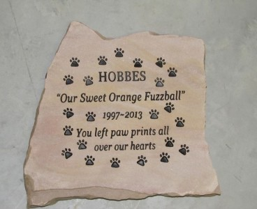 Engraved Dog Memorial Stone - Flagstone