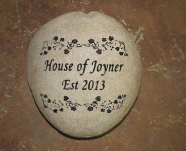 Engraved House Stone - River Rock